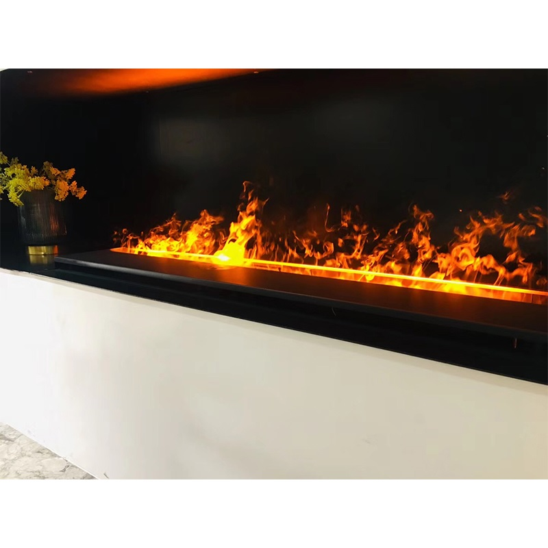 Chimenea de Vapor de agua/llamas LED seguras para niños de plumas finas de Vapor/chimenea eléctrica realista sin ventosas para apartamento