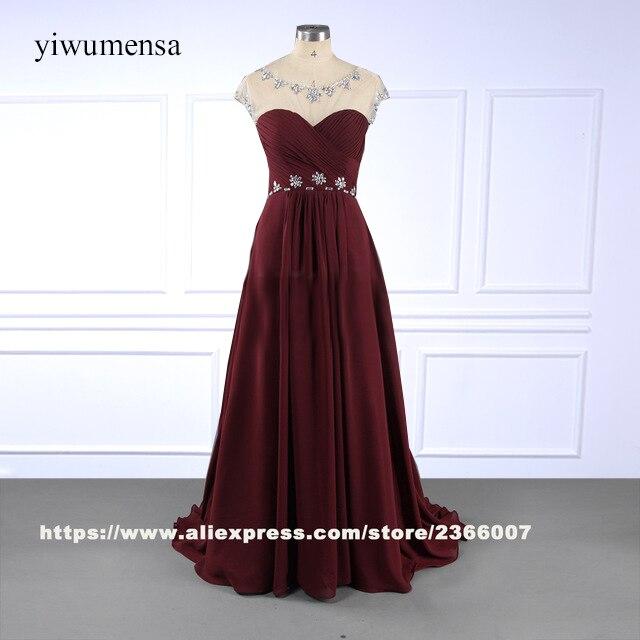 b60f70b12c40 Vestido de festa de casamento plus size madrinha vinho vermelho longo prom  dress vestido plus size beading vestidos 2018 do baile de finalistas  vestidos um ...