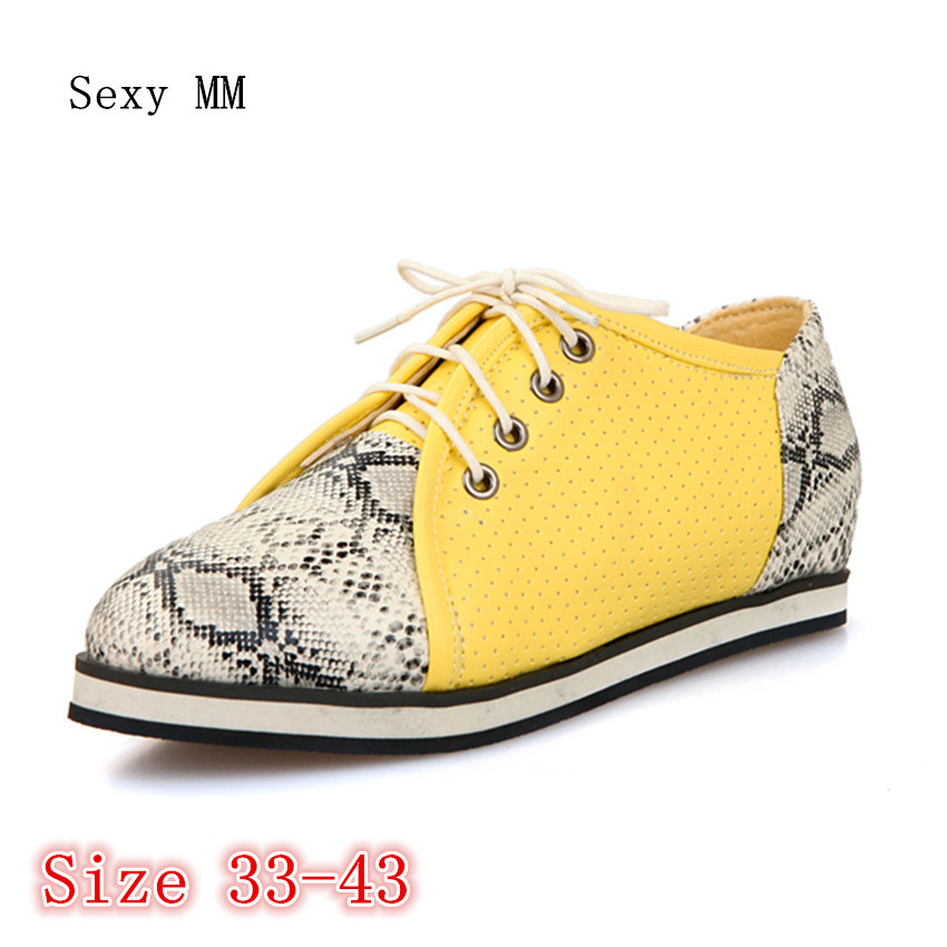 Oxfords Shoes Women Loafers Flats Woman Flat Shoes Soft Comfortable Casual Shoes Plus Size 33 - 40 41 42 43 tangnest women flats 2017 summer style casual pointed toe slip on flat shoes soft comfortable shoes woman plus size 35 40 xwc267