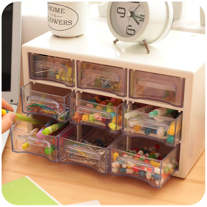 Transparent Acrylic Plastic Drawers Storage Box Desk Organizer ...