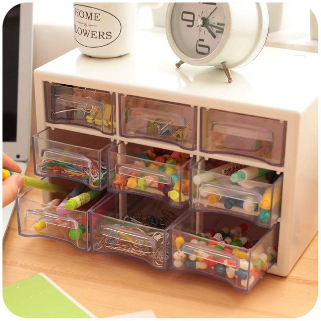 Transparent Acrylic Plastic Drawers Storage Box Desk Organizer Sundries Jewelry  Storage Cabinets With Drawers