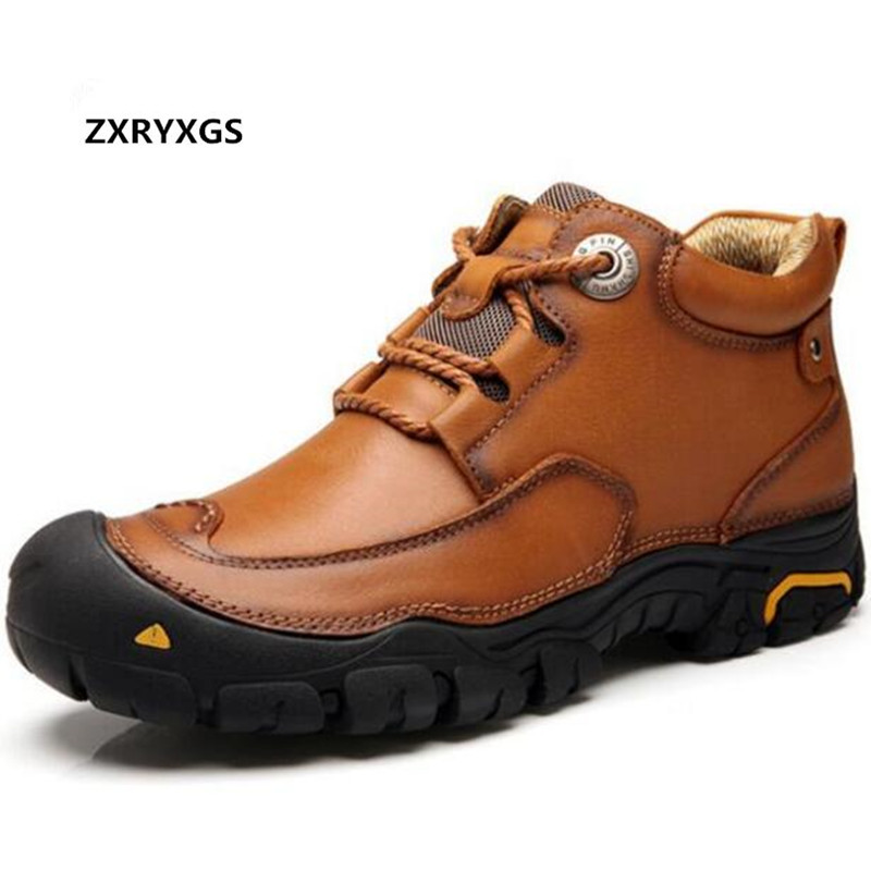 2018 New Autumn Outdoor Leisure Shoes Men s Shoes Flat Men Sneakers High Quality Cow Leather