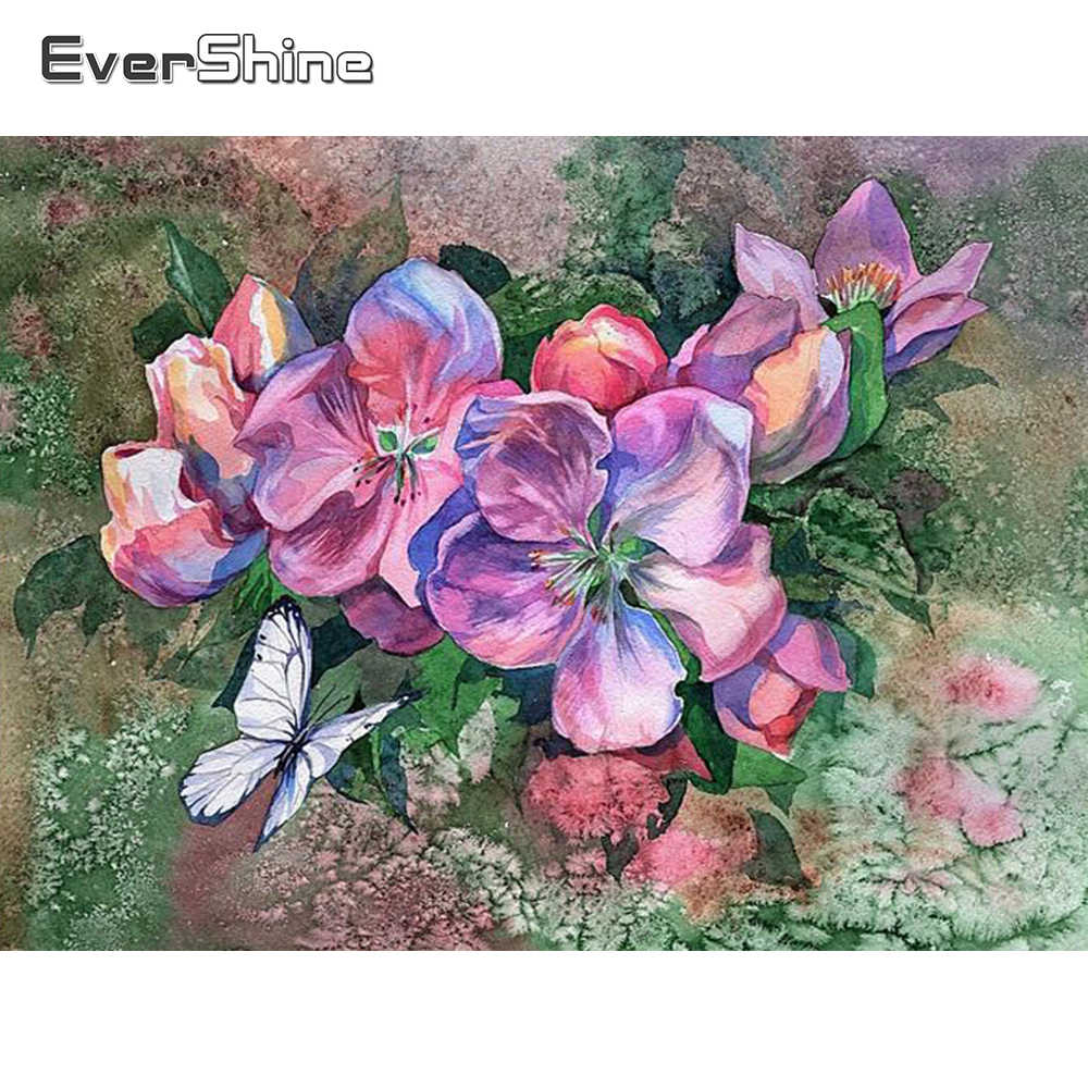 Diamond Embroidery Flowers Painting Full Square Drills House Displays DIY Mosaic