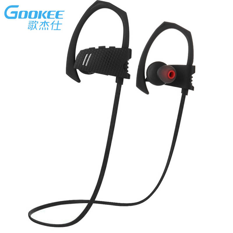GOOKEE Q9 IPX4 Waterproof Running Ear Headset Stereo Sport Earphone Wireless Bluetooth Headphone for MIC for Iphone Android wireless earphone sport running headphone bluetooth headset portable in ear with stereo music mic for iphone android phones