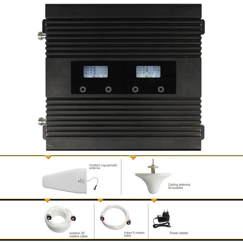 Amplificateur de Signal de téléphone portable double bande GSM WCDMA 900/2100 MHz pour les utilisateurs d'asie, d'ue et d'afica