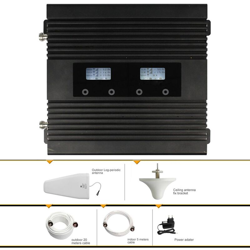 Dual Band GSM WCDMA 900/2100MHz Mobile Signal Booster Phone Signal Amplifier for Asia,EU,Afica usersDual Band GSM WCDMA 900/2100MHz Mobile Signal Booster Phone Signal Amplifier for Asia,EU,Afica users