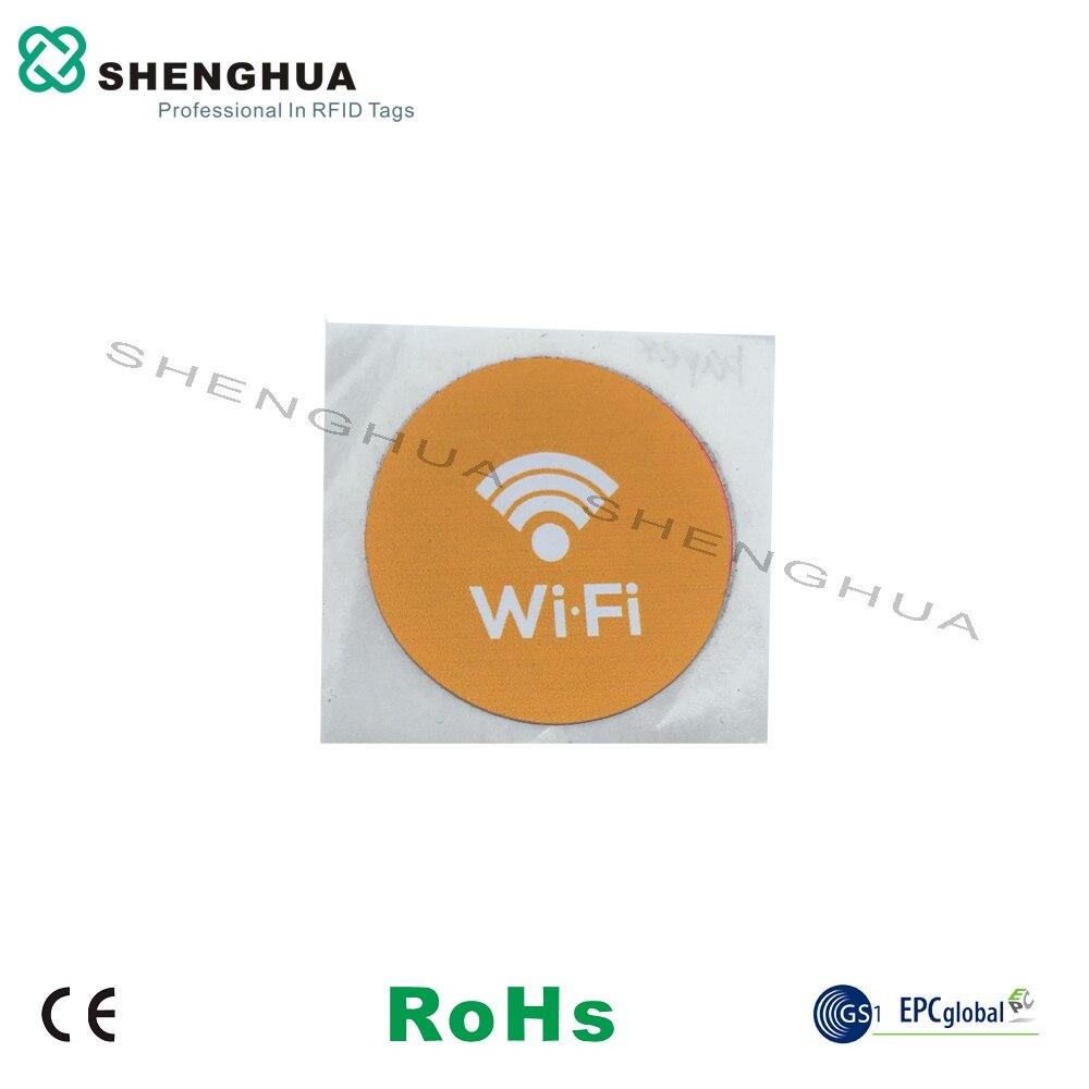 6 قطعة/الحزمة إدارة الخدمات اللوجستية السلبي HF تتفاعل العلامة NFC التسمية ملصقا 144 بايت diam 25 مللي متر منخفضة التكلفة مع بروتوكول 14443A