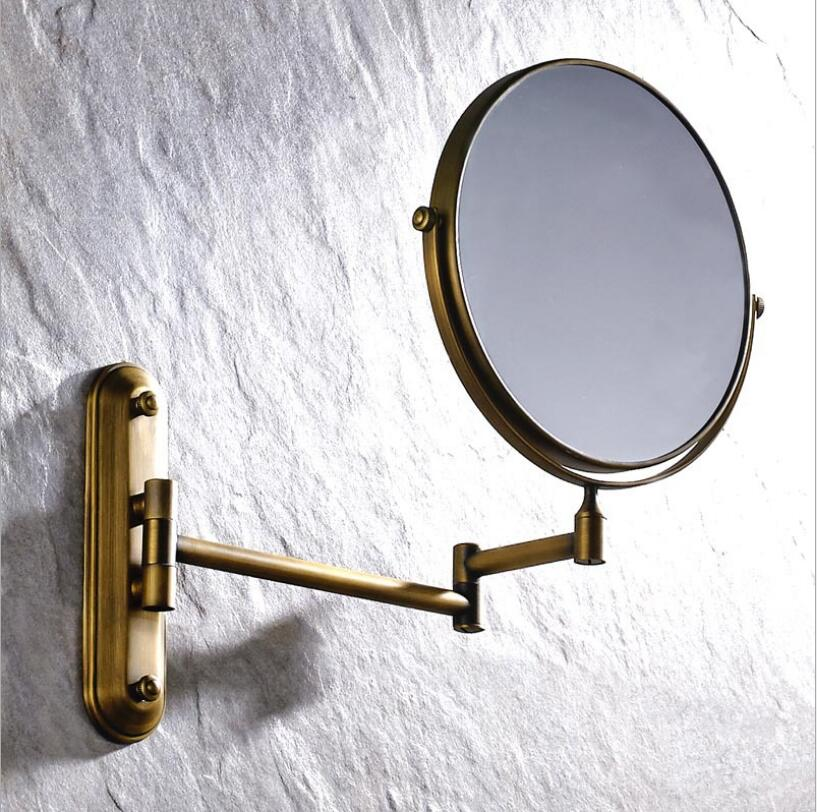 Antique bronze Gold Black Chrome brass wall makeup mirror 8 inch bathroom mirror antique decorative makeup