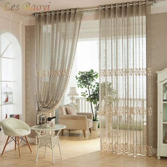 Les Baoyi Plaid Luxury Garden Curtain Window Screening Finished Product  Fashion Rustic Modern Curtains Home Living