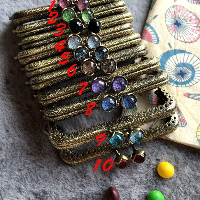 10.5cm Vintage Bronze Color DIY Women Purse Frame Bag Clasp With Candy Buckle Decoration 5pcs/lot