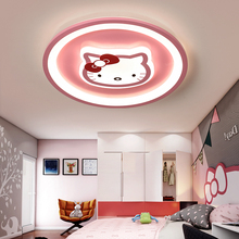 Moderne led deckenleuchte rosa blau runde lichter für kinder zimmer kinder baby schlafzimmer AC85 265V beleuchtung junge gril decke lampe