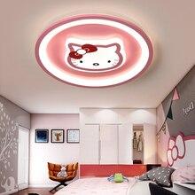 Moderno led luz de teto rosa azul luzes redondas para crianças quarto bebê AC85 265V iluminação menino gril lâmpada do teto