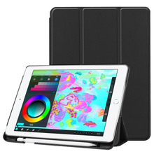 Leather Case For iPad 9.7 2018 Release Smart Leather TPU Stand Case Cover With P
