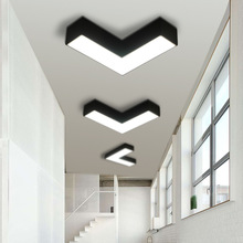 Modern Simple Creative Geometry Office Hotel Office ceiling light Corridor Aisle Led light Acrylic Black White