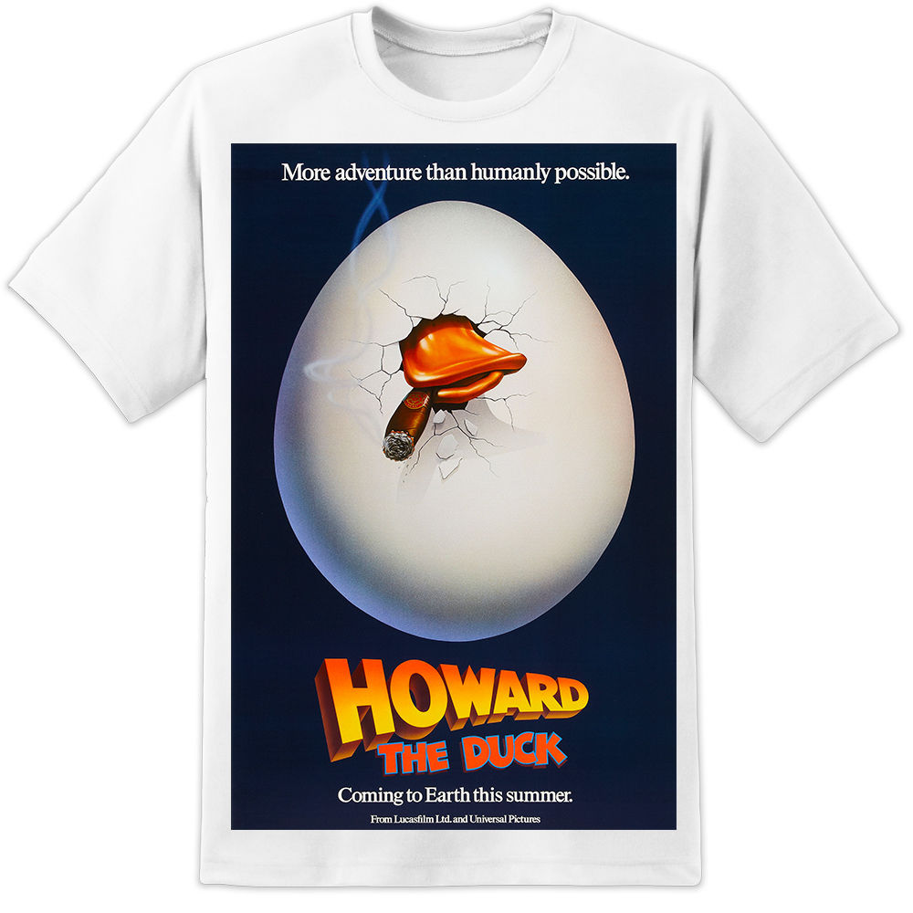 Howard The Duck Retro Movie Poster T SHIRT (S - 3XL) Guardians of The Galaxy New Fashion T-Shirt Graphic Letter