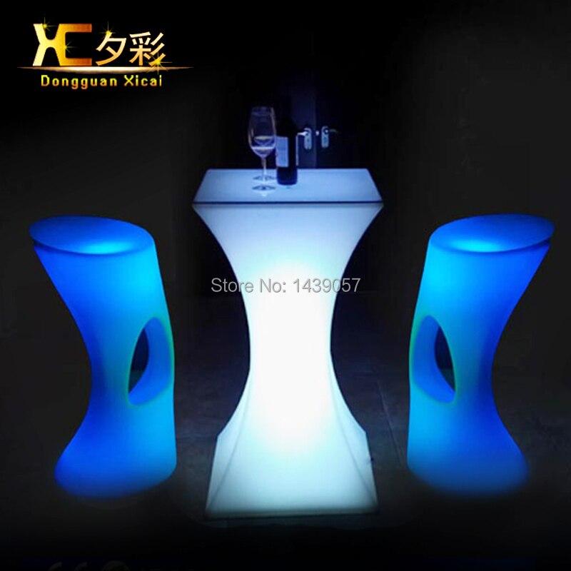 LED Stehtisch Kunststoff Leuchtmöbel Hoch Cocktail Trinken Tisch Für ...