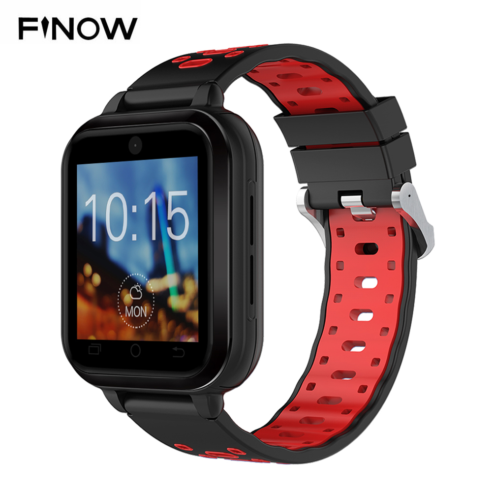 Finow Q1 Pro MTK6737 Quad Core Android 6.0 4G smart watch 1GB/8GB SmartWatch Phone Heart Rate Sim Card Support replaceable strap