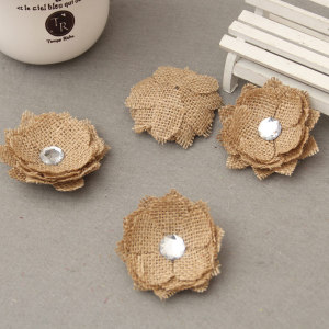 Antique Burlap Flower With Cry
