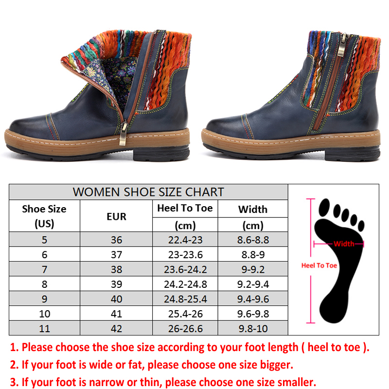 dbcc30697c4 US $46.53 45% OFF Aliexpress.com : Buy Socofy Vintage Bohemian Ankle Boots  Women Shoes Genuine Leather Knitted Wool Boot Tube Zipper Shoes Woman ...