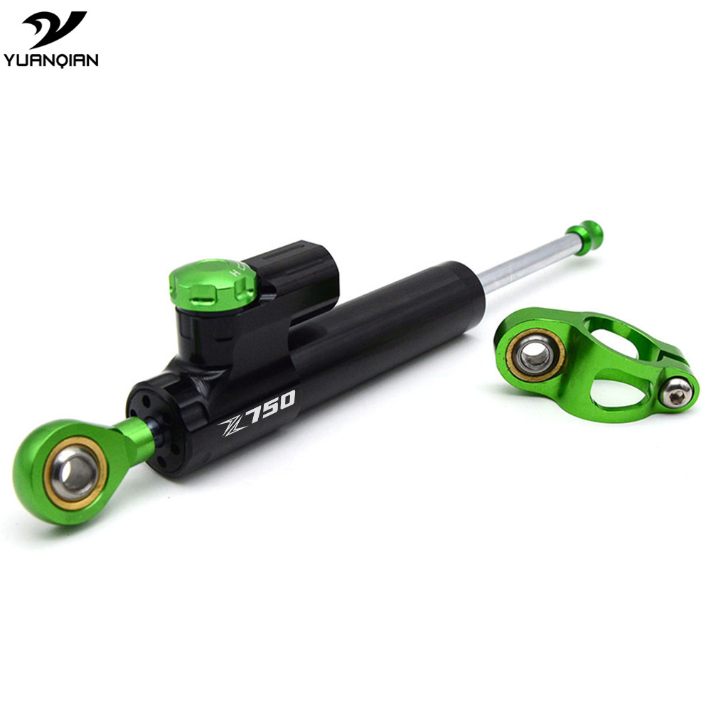 Steering Damper Motorcycle Damper Steering Stabilizer For Kawasaki Z750 Z750S Z750R Z 750 ABS 2003 2004 2005 2006 2007 2008 2009 aftermarket free shipping motorcycle parts eliminator tidy tail for 2006 2007 2008 fz6 fazer 2007 2008b lack