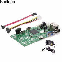 GADINAN 16CH NVR 1080P /4CH 5MP Network Video Recorder Board Onvif P2P Cloud XMEYE CMS Motion Detection Email Alert with Adapter