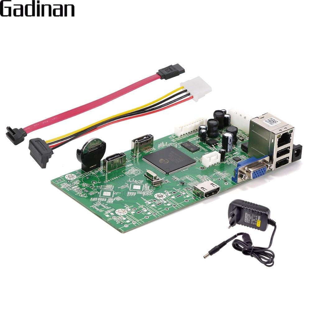 Gadinan 16ch NVR 1080 P/4ch 5mp сети видео Регистраторы доска ONVIF P2P Облако xmeye CMS обнаружения движения электронной почты предупреждение с адаптером