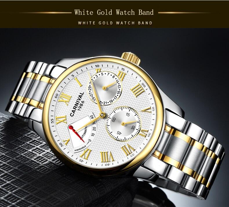 luxo masculino relógio mecânico relogio masculino pulseira