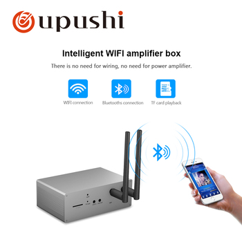 Intelligent WIFI Module MZ01 Wirless Bluetooth Control Small Amplifier Box For Home Background Music System