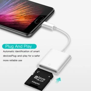 Image 4 - 2019 nowy USB 3.1 typ C USB C na SD karta sdxc aparat cyfrowy adapter do czytnika kabel do macbooka telefon komórkowy Samsung Huawei Xiaomi
