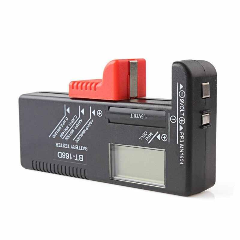 مؤشر شحن البطارية الإلكتروني العالمي BT168D AA AAA مؤشر ذكي LCD مقياس رقمي لقياس البطارية 9 فولت 1.5 فولت مقياس البطارية