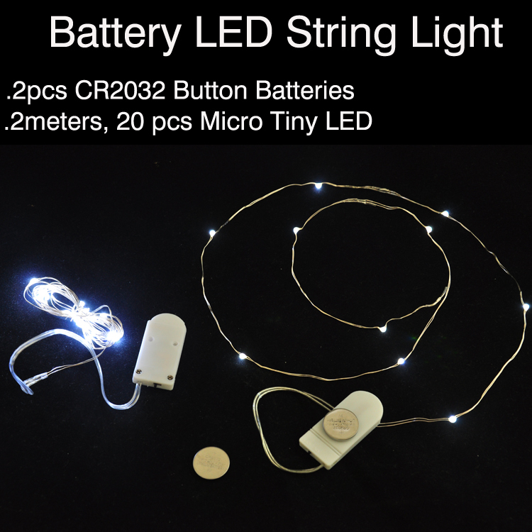10pcslot cr2032 button battery operated 2m 20 micro led string 10pcslot cr2032 button battery operated 2m 20 micro led string lightsled fairy light for christmas xmas party wedding decor in led string from lights aloadofball Image collections