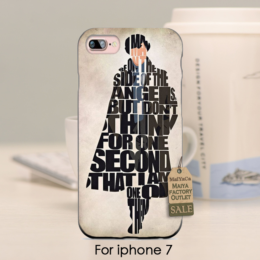 Sherlock hombre fresco diseño bonito plástico duro teléfono accesorios case para