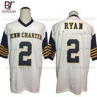 Cheap New American Football Jersey Matt Ryan 2 William Pen N Charter School White Football Jersey