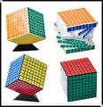 Venta caliente Cubo Mágico ShengShou 8x8 Profesional de PVC y Mate Pegatinas Cubo Mágico Puzzle Velocidad Juguetes Clásicos de Aprendizaje Juguete de la educación