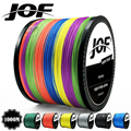 JOF 300M 500M 1000M 8 прядей, 4 пряди, 18-88LB PE плетеная рыболовная леска, мультифиламентная супер прочная леска, японская разноцветная