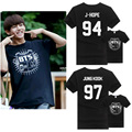 Kpop Bangtan Boys Kpop BTS T-shirt Tee Jung Kook Suga V Jin Jimin New Desigaul T-shirt Blusa Peplum Sudaderas Mujer