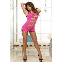 Hot roze zwart hot sexy lingerie zien door chemise sexy ondergoed dancewear volwassen meisjes naadloze gladiatorschoen uitsnede jurk L2411-2