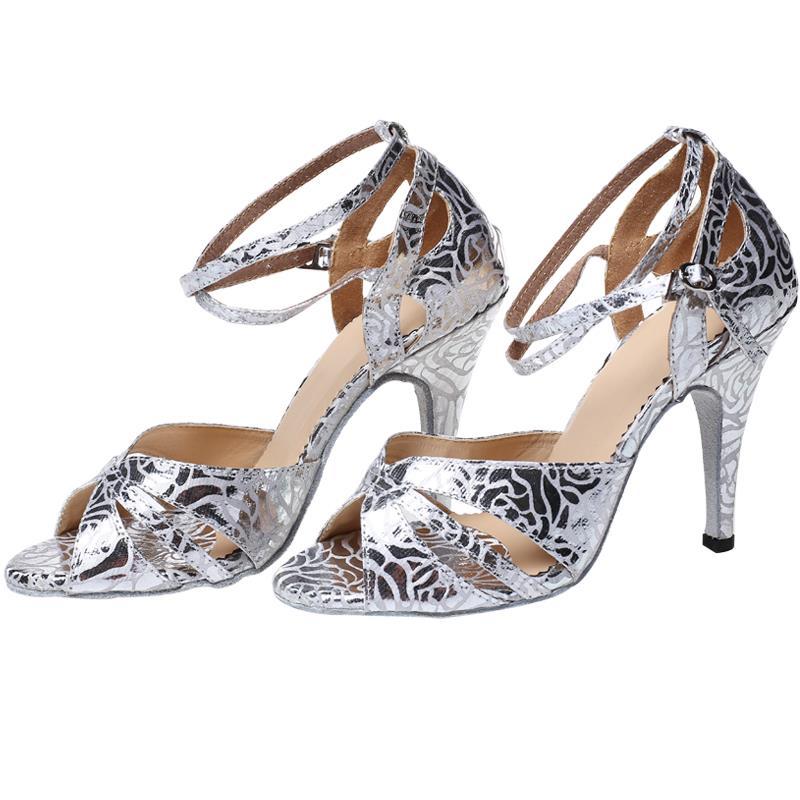 Women Ballroom Latin Dance shoes Salsa Social Party Shoes Female Samba  Modern Tango Dance Shoes High 312a090189ad