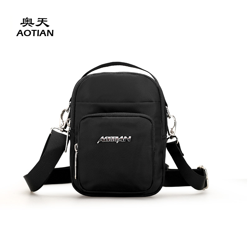 Aotian youth style fashion waterproof nylon mini men messenger bag vogue cute crossbody boy small flap portable waist handbag swisswin fashion brand men shoulder bag small black messenger daily phone bag quality waterproof nylon flap zipper crossbody bag