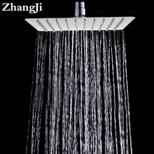 10 inch Big Stainless steel waterfall head Temperature control colorful light rainfall Square Hydropower shower ZJ053