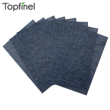 Top Finel Set of 8 PVC Cross Weave Placemats for Dining Table Runner Linens Place Mat in Kitchen Accessories Cup Mat Coaster Pad