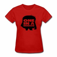 One in a minion T-Shirt Print on Front Women Tshirt Fashion Punk Clothes Women Tops Tee Shirt Femme