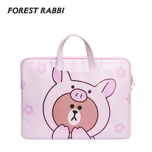 Forest Rabbi Brand Pink bear pattem waterproof Laptop Bags 1