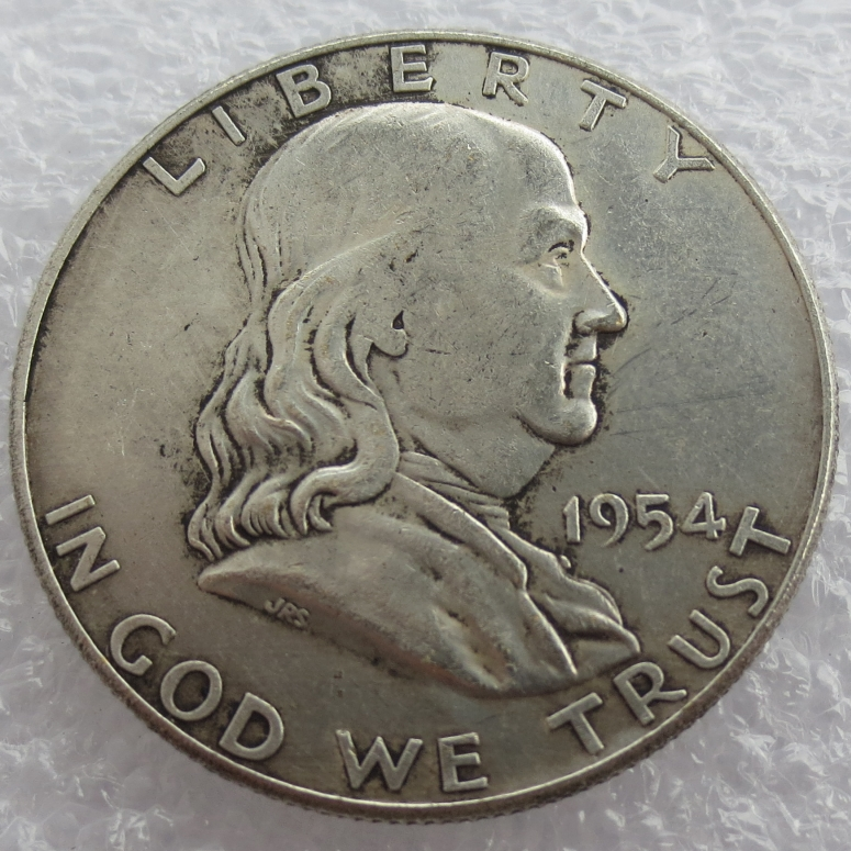 1954 P S D Franklin Silver Half Dollar 90% silver or silver plated copy coins High Quality