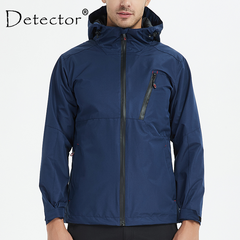 Detector Waterproof Windproof Hiking Jackets Men Outdoor Fishing Raincoat Camping Soft Shell Rain Tactical Jacket Windbreaker