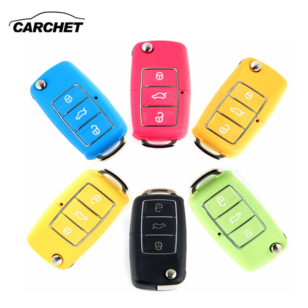 Carchet 3 Button Remote Key Switch Shell Folding