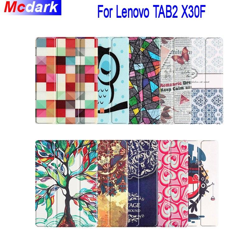 Mcdark para Lenovo Tab2 A10-70 Tab2 A10-30 Tab3 10 más Tab3 10 negocios TB-X103F TB2-X30F TB3-X70F tri-fold cuero caja de la tableta
