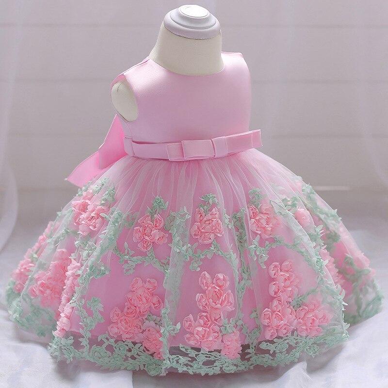 2018 Vintage Vestido Del Bebé Bautismo Vestidos Para Niñas