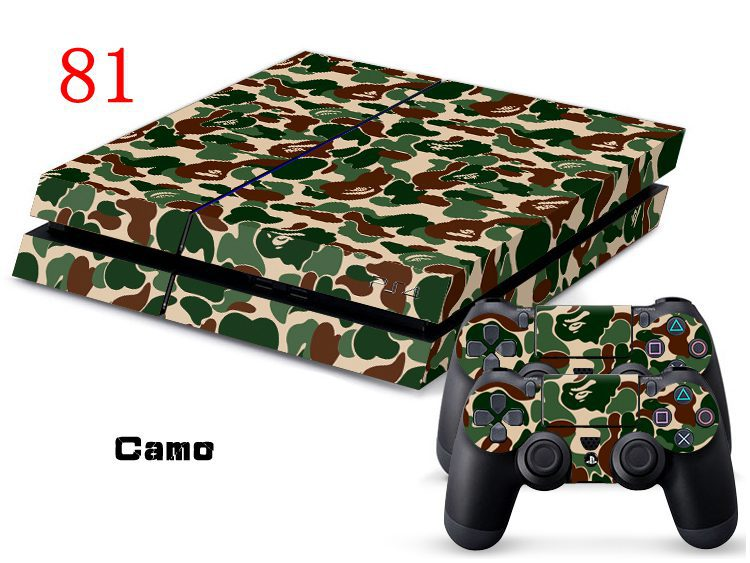 OSTSTICKER CAMO Decal Skin Sticker For PS4 Vinyl Sticker For PS4 Console and Controller