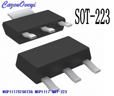 10pcs/lot NCP1117ST50T3G NCP1117 1117-5 SOT-223 5V New Original In Stock